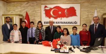 ÇOCUK MECLİSİ'NDEN İLK ZİYARET KAYMAKAM'A