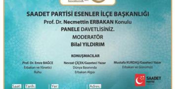 Saadet Partisi, Merhum Erbakan için panel düzenliyor