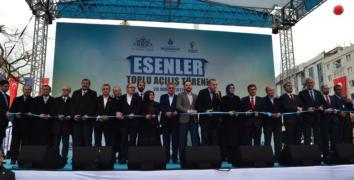 Erdoğan Esenler'de Dev Eserleri hizmete açtı