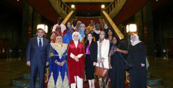 Afrikalı Ninni sanatçıları Erdoğan'la