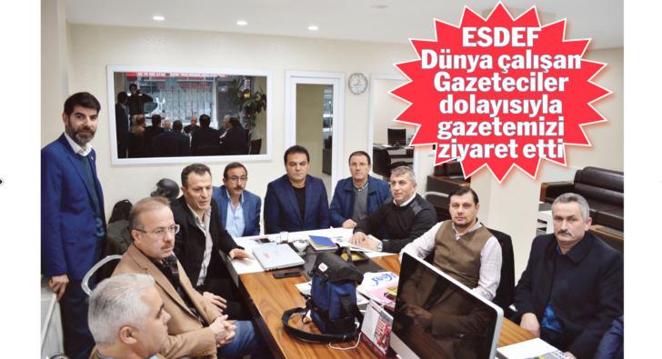 ESDEF Başkanı Kaplan ve Yönetim Kurulu Gazetecilere günümüzü kutladı