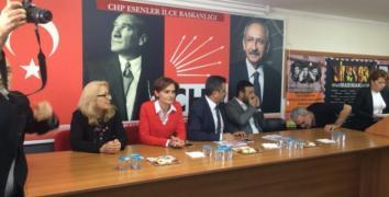 CHP İlçe Başkanı Ütebay, Usta'yı konuşturmadı