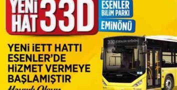 Esenler'den Eminönü'ne yeni İETT hattı
