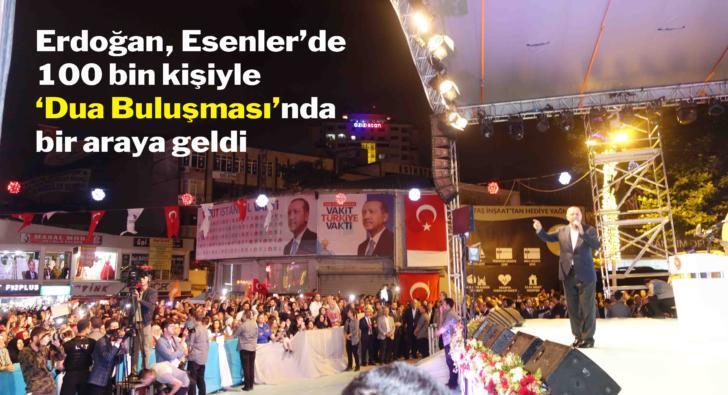 Cumhurbaşkanı Erdoğan Esenler'de konuştu