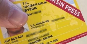 Sarı Basın kartlarıyla ilgili önemli değişiklik!