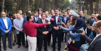 Bakan Kurum 15 Temmuz Millet Bahçesi'ni inceledi