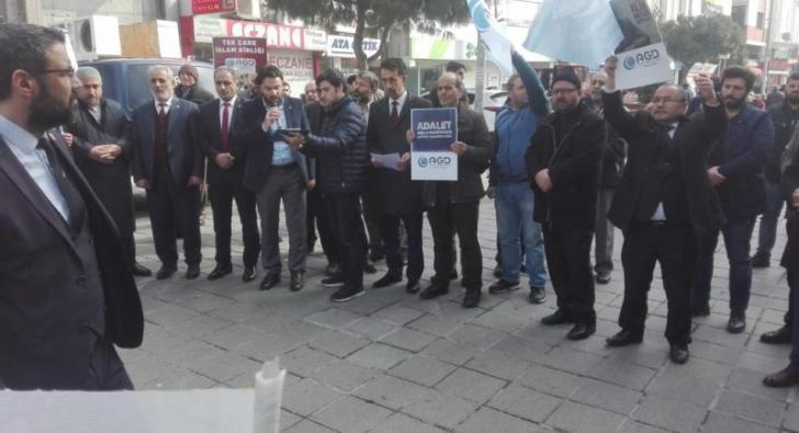 Esenler'de AGD'den 9 ihvan üyesinin idam edilmesine protesto