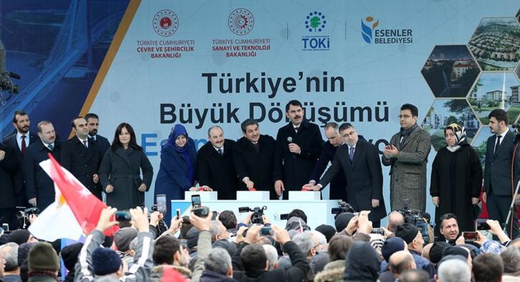 """Türkiye'nin ilk """"Akıllı ve Güvenli Şehri""""Esenler'de başladı"""