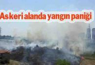Metris Cezaevi yanındaki askeri alanda yangın çıktı