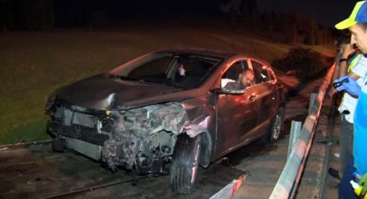 Kontrolden çıkan araç takla attı: 3 kişi yaralandı