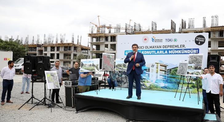 Esenler'de 98 bin riskli yapının 56 bini yenilendi