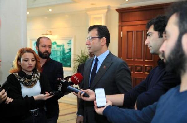 İmamoğlu gazetecilerin sorularını yanıtladı