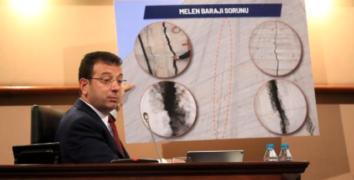 Ekrem İmamoğlu, İBB Meclisi'nden Melen Barajı'ndaki çatlakları gösterdi