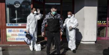 15 Temmuz Şehitler Otogarı dezenfekte edildi