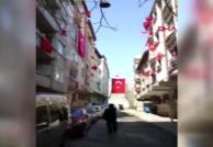 Esenler'den sağlık çalışanlarına bayraklı destek!
