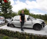 15 Temmuz'da tankın ezdiği otomobil Esenler'de sergileniyor