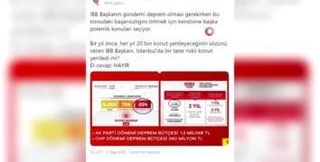 Göksu'dan İmamoğlu'na deprem eleştirisi:
