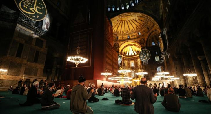 Ayasofya Camii'nde 86 yıl sonra Mevlit Kandili