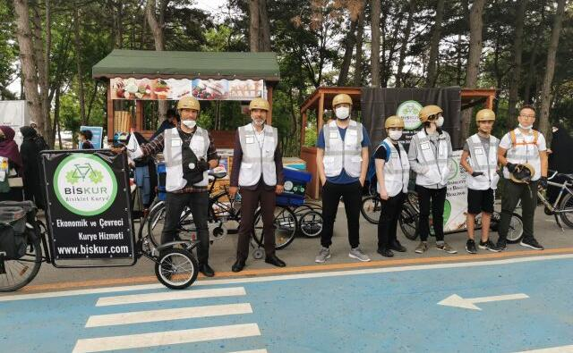 Çevre Dostu Bisikletli Kurye Esenler'de