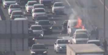 Merter'de kaza: Trafik durdu